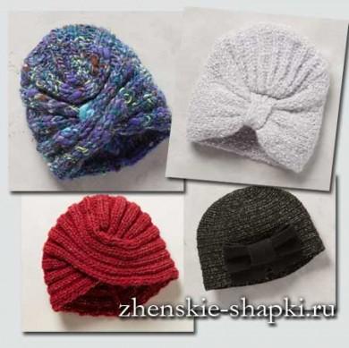 Модные вязаные шапки 2017