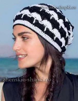 Вязаная шапка на осень схемы вязания