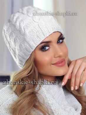 Вязание шапки спицами с косами схема и описание