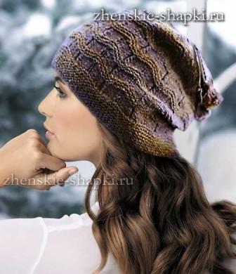Модная вязаная шапка 2015-2016