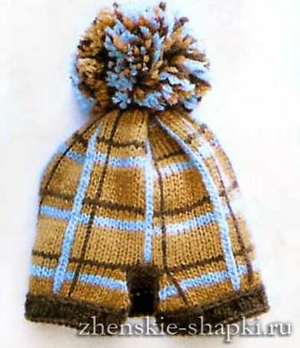Модная вязаная шапка для женщин 2016