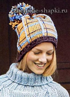 Модная вязаная шапка для женщин 2017