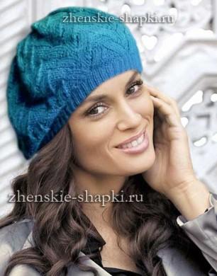 Модная женская шапка на весну