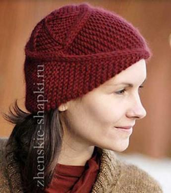 вязания женской шапки спицами оригинальная модель с описанием