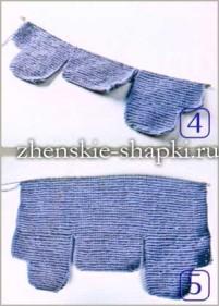 Вязаная шапка с ушками - мастер класс вязания спицами