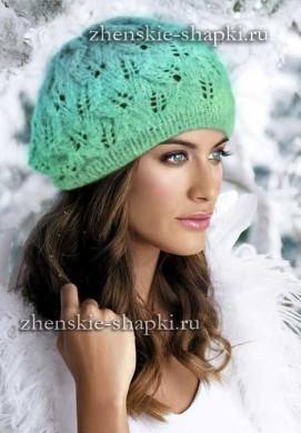 Вязание модных шапок спицами