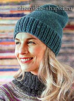 Вязание простой шапки для женщин
