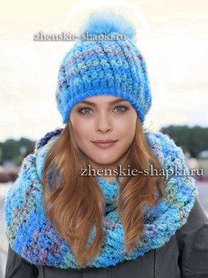 Вязаные шапки для женщин. Схемы вязания 100 30