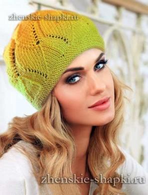 Женская шапка на осень