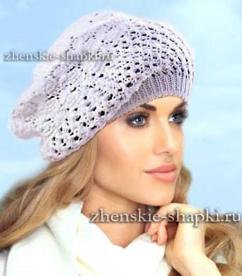 Женская шапочка для лета в форме берета
