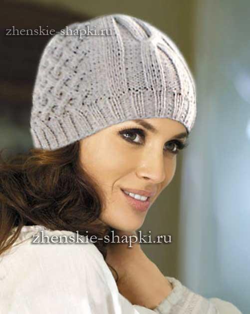 Вязаные шапки для женщин. Схемы вязания 100 4
