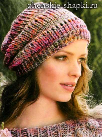 Вязание шапки на весну