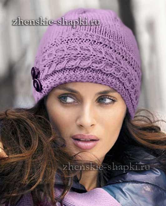 красивые зимние вязанные шапки