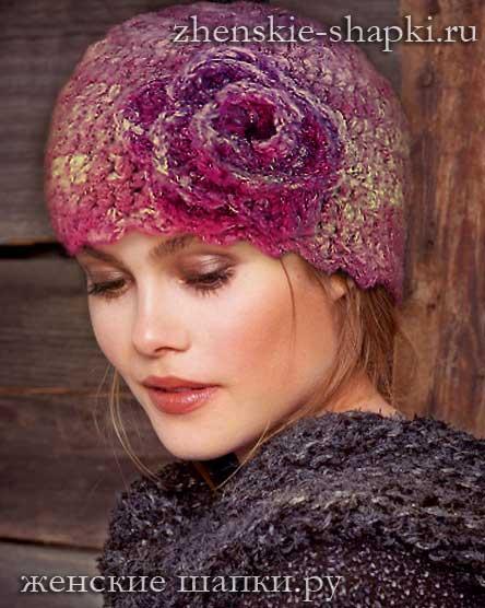 shapka-s-cvetkom-2017 Поиск на Постиле: модные шапки крючком