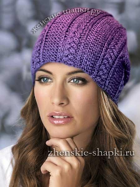 Ninaвязаные шапки для женщин схемы вязания 100 моделей женских