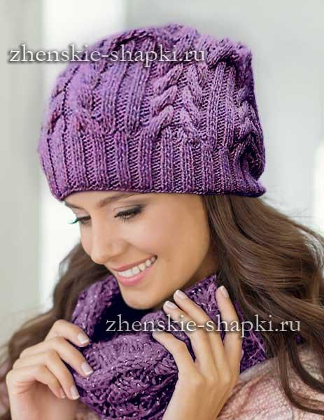 Схема вязанной шапки спицами фото 456