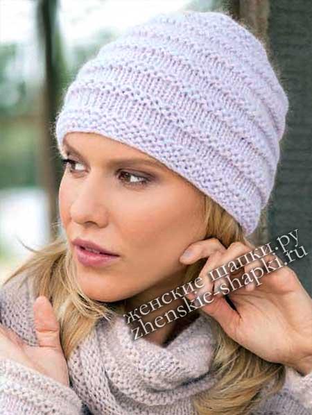 модные женские шапки зима 2018 15 фото описание вязания спицами